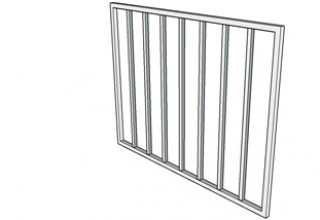 burglar bar 25 frame 19 vertical insert